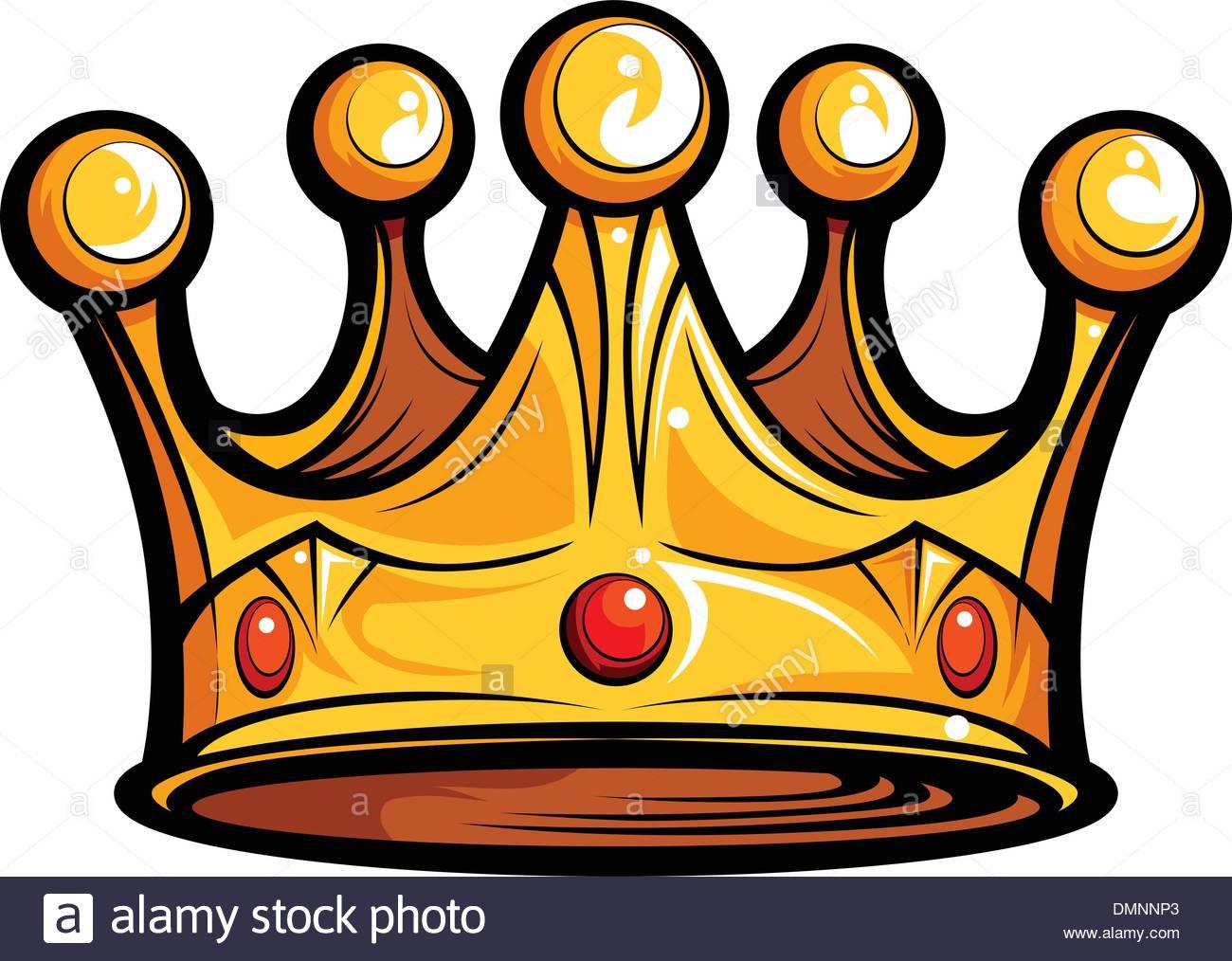 Royalty or Kings Crown Cartoon Vector Image Stock Vector Art.