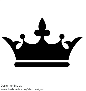 Crown black and white clipart - photo#47