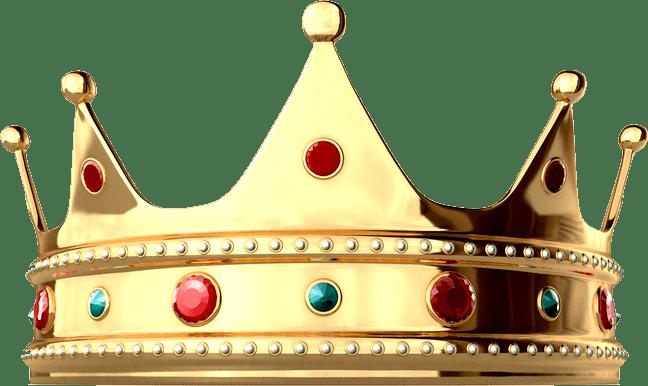 Shiny King Crown transparent PNG.