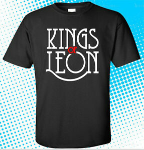 Details about New KINGS OF LEON Rock Band Logo Men\'s Black T.