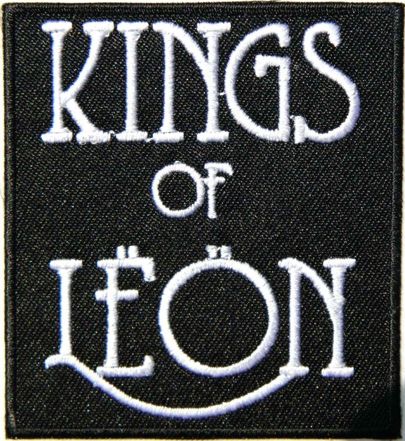 KINGS OF LEON Logo Iron On Embroidered Patch 3\