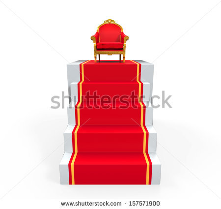 King Throne Stock Images, Royalty.