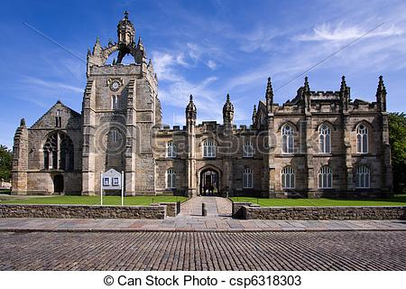 Stock Photos of Aberdeen University King's College Chapel building.