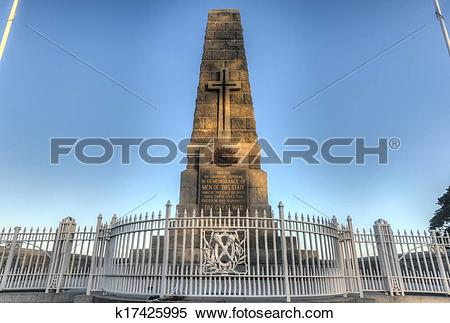 Stock Image of Cenotaph of the Kings Park War Memorial in Perth.