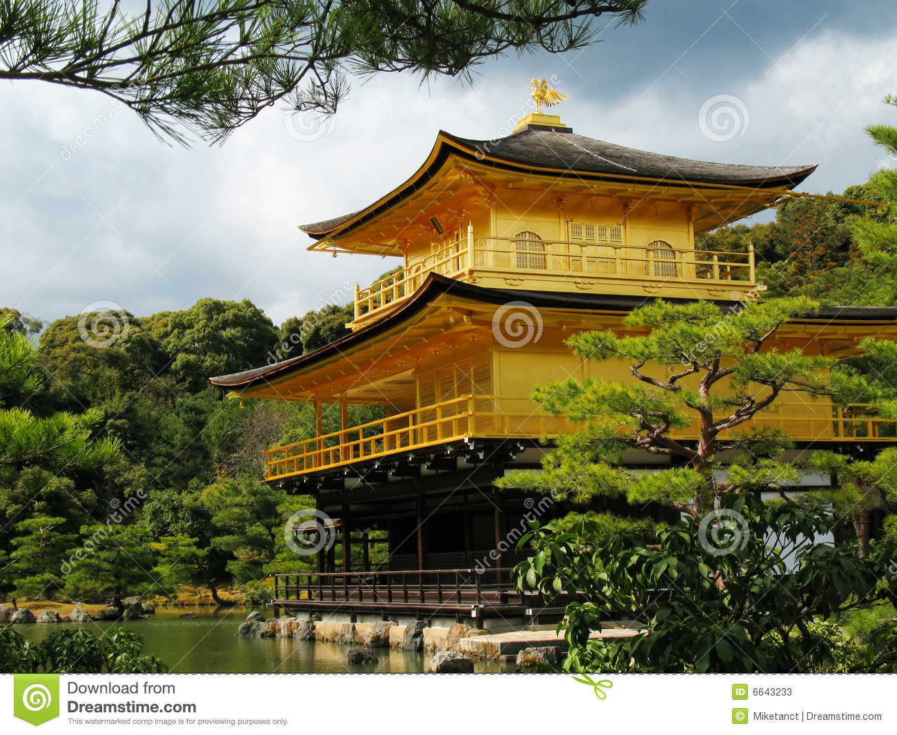 Kinkakuji Golden Pavilion Stock Photos.
