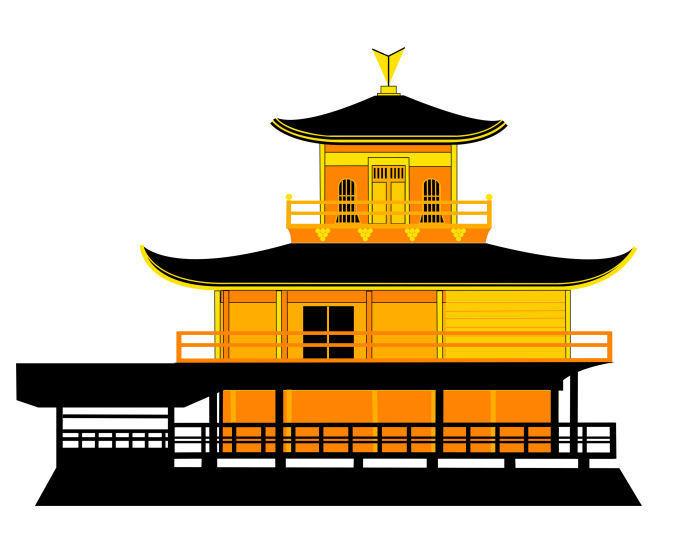 Asbjorn Lonvig 'The Golden Temple Kyoto Japan'.