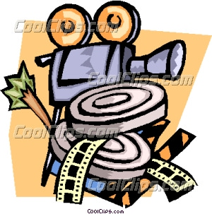 camera and film canisters Clip Art.