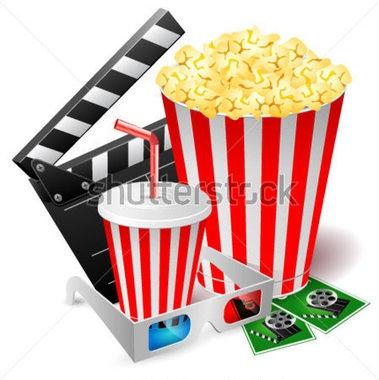 Kino Popcorn Clipart.