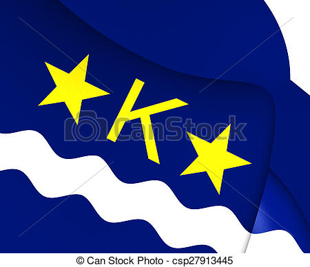 Drawing of Flag of Kinshasa. Close Up. csp27913445.