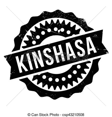 Vector Clipart of kinshasa, timbre, caoutchouc, grunge.