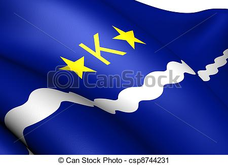 Clipart of Flag of Kinshasa. Close Up. csp8744231.