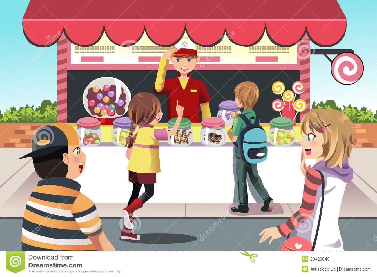 Kiosk clipart #12