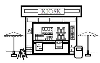 Clipart kiosk.