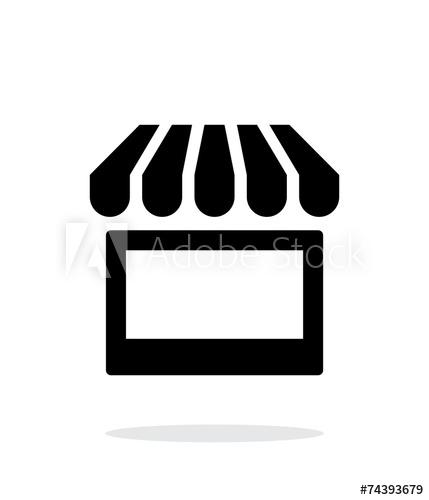 Kiosk icon on white background..
