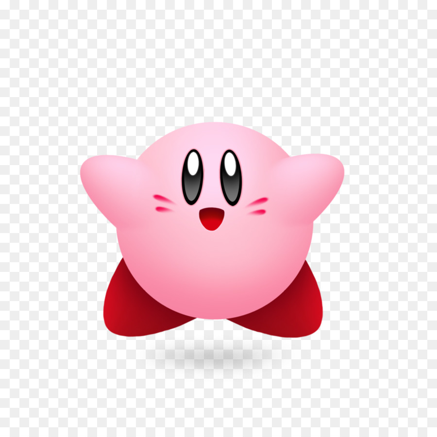 Kirby Clipart Fighting Kirby With Mouth Open.