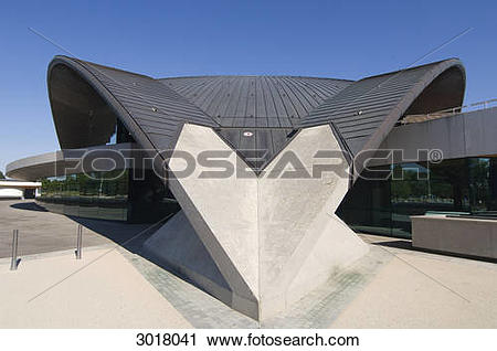 Stock Photography of Kirchberg National Sports Arena, Luxembourg.