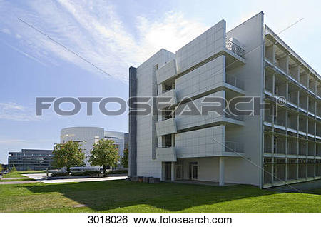 Stock Images of Office building of the HypoVereinsbank at the.