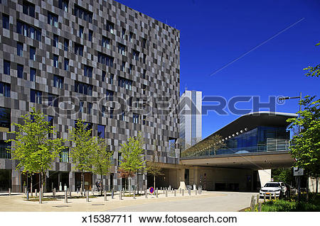 Stock Photography of Luxembourg, Kirchberg, Hotel Melia x15387711.