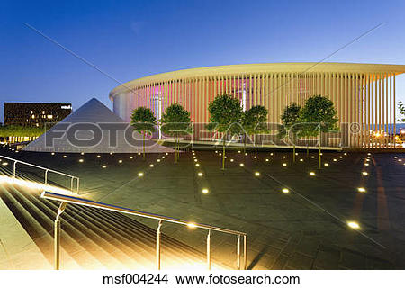 Stock Photo of Luxembourg, Kirchberg, Philharmonie Luxembourg in.