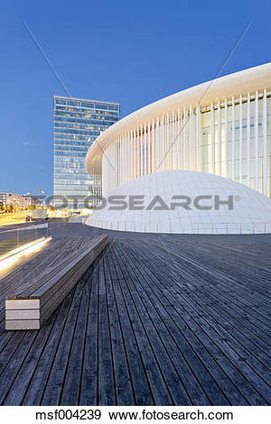 Stock Photograph of Luxembourg, Kirchberg, Philharmonie Luxembourg.