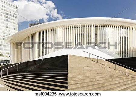 Stock Image of Luxembourg, Kirchberg, Philharmonie Luxembourg.