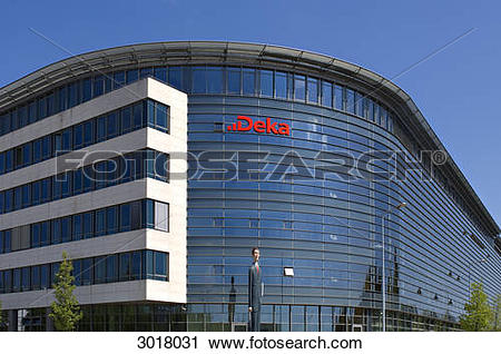 Stock Photography of Office building of the Deka Bank at the.