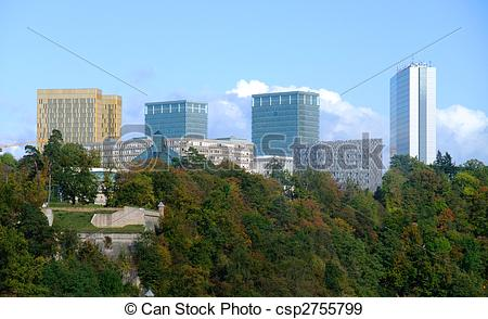 Stock Photographs of European institutions buildings.