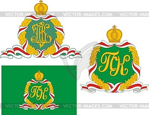 and flag of Russian Patriarch Kirill.