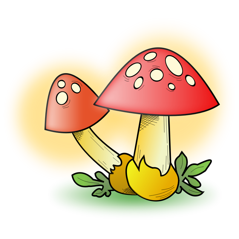 Mushrooms Clipart.