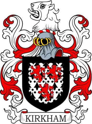 Kirkham Coat of Arms Meanings and Family Crest Artwork.