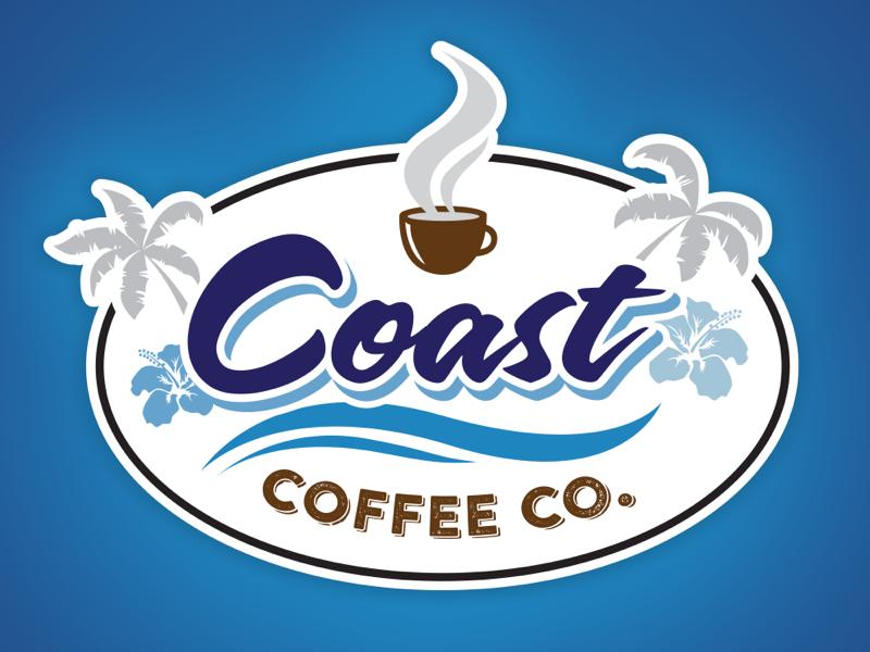 Coast Coffee Logo by Josh Kirkland.
