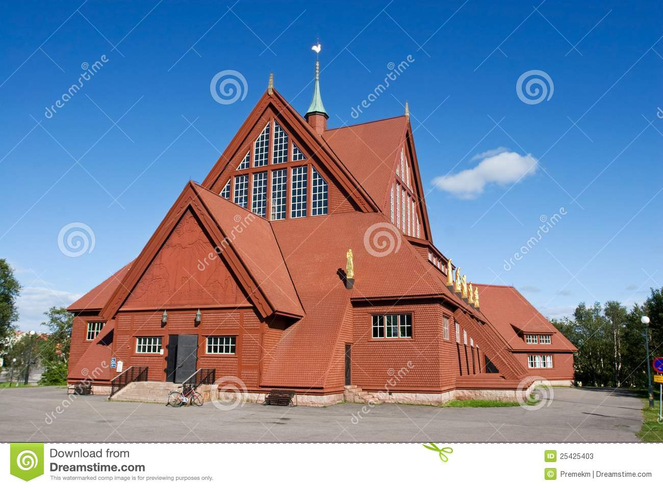 Kiruna Church In The Summer Stock Photos.