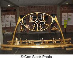 Pictures of Rautas magic drum sculpture in Kiruna.