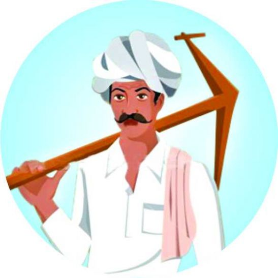 Indian Kisan Clipart.
