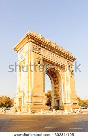 Triumph Arch Bucharest Stockfoto's, rechtenvrije afbeeldingen en.