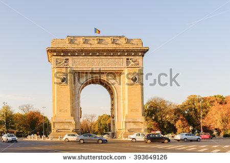 Triumph Arch Bucharest Stock Photos, Royalty.