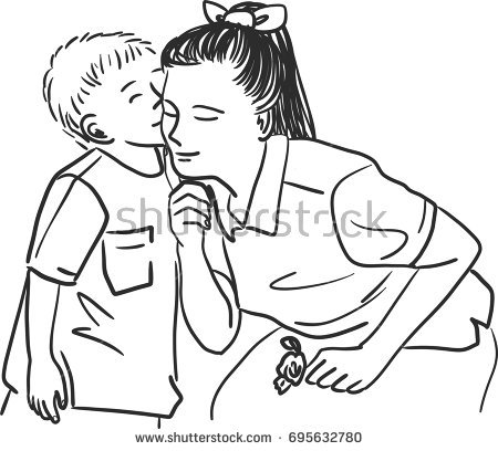 Kiss clipart black and white 4 » Clipart Station.