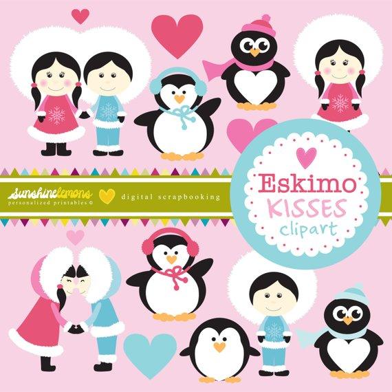 Eskimo Kisses Clipart.