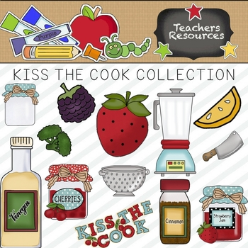 Kiss The Cook Clipart Collection.