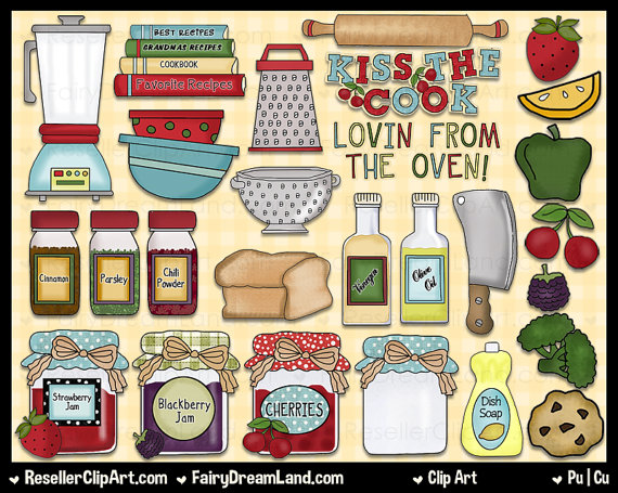 Kiss The Cook Clip Art Commercial Use Digital by.