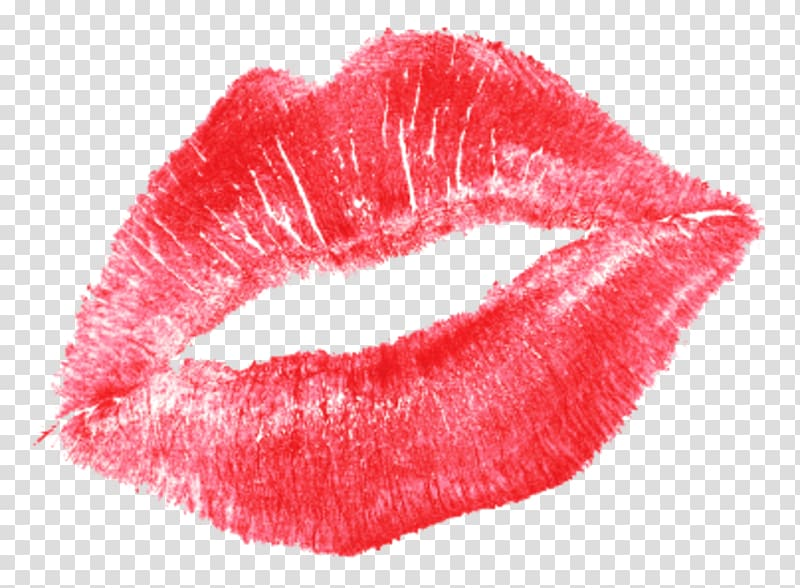 Kiss Lipstick Love, kiss transparent background PNG clipart.