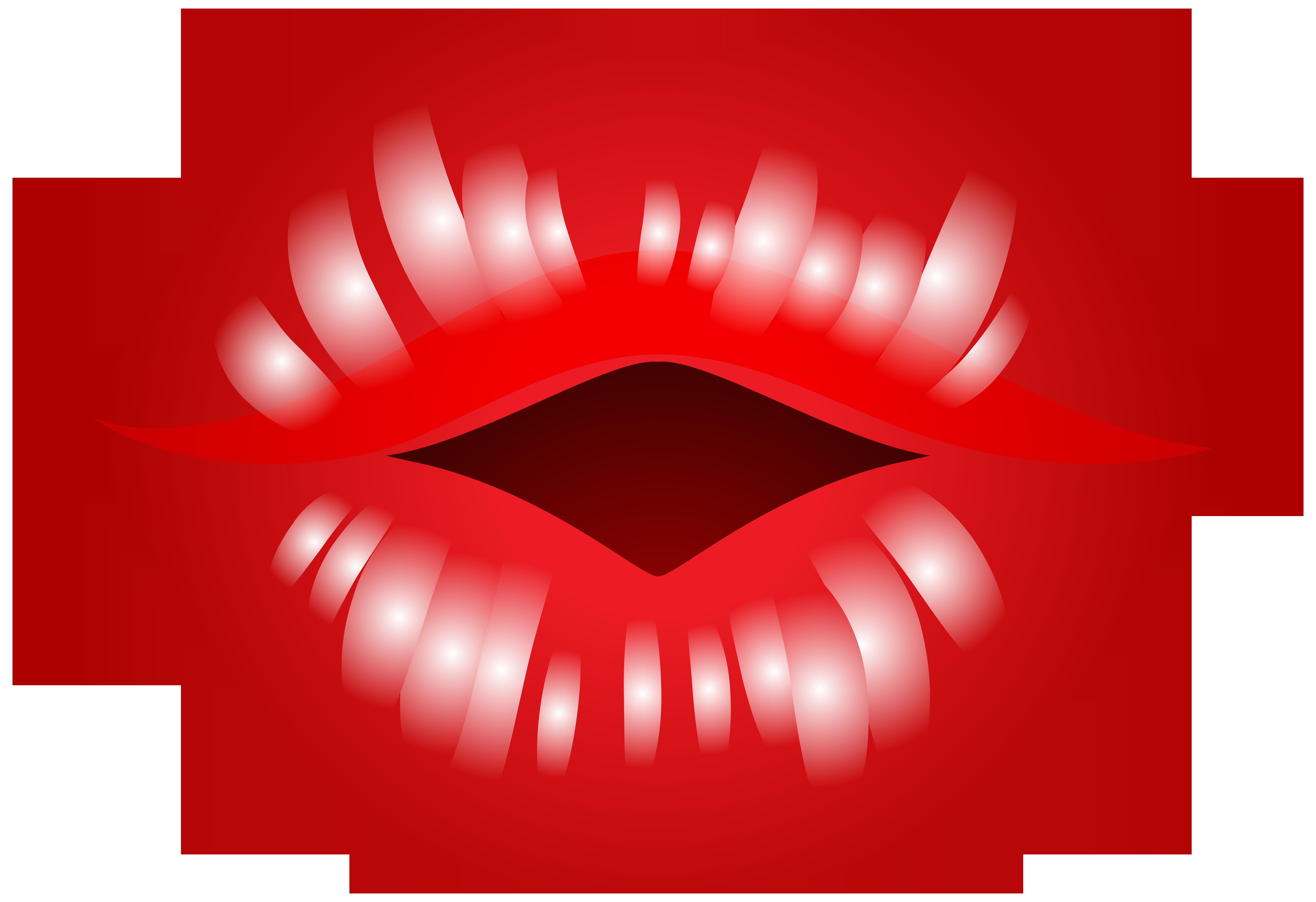Kiss Lips PNG Clip Art Image.