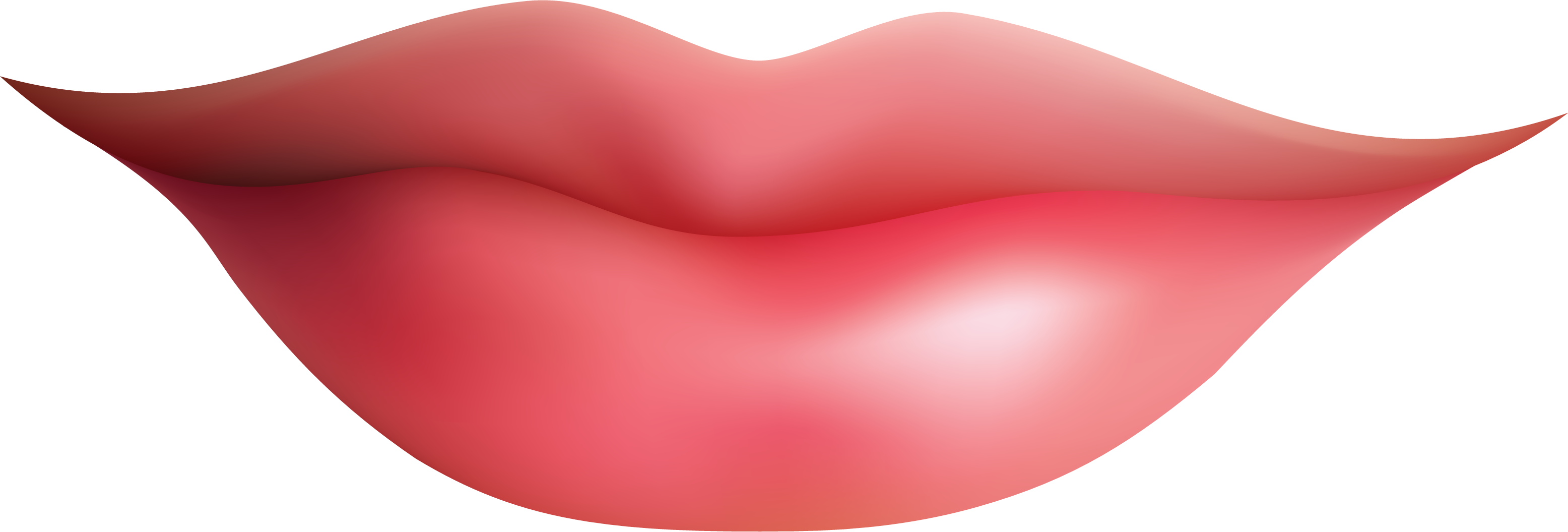 Girl Pink Lips Clipart Png