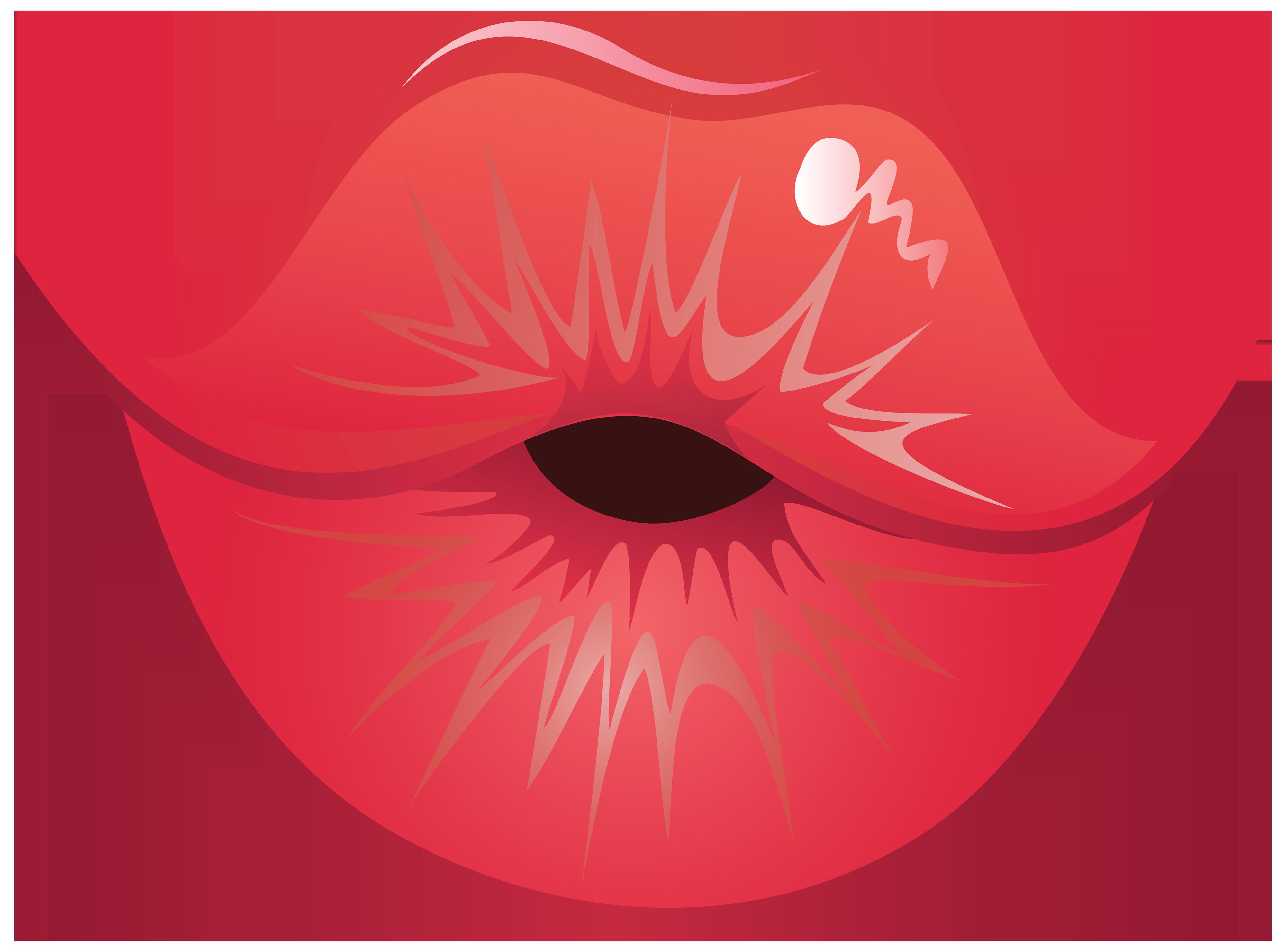 Clipart kiss lips.