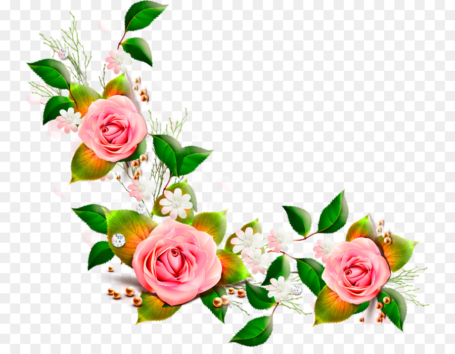 Pink Flower Cartoon png download.