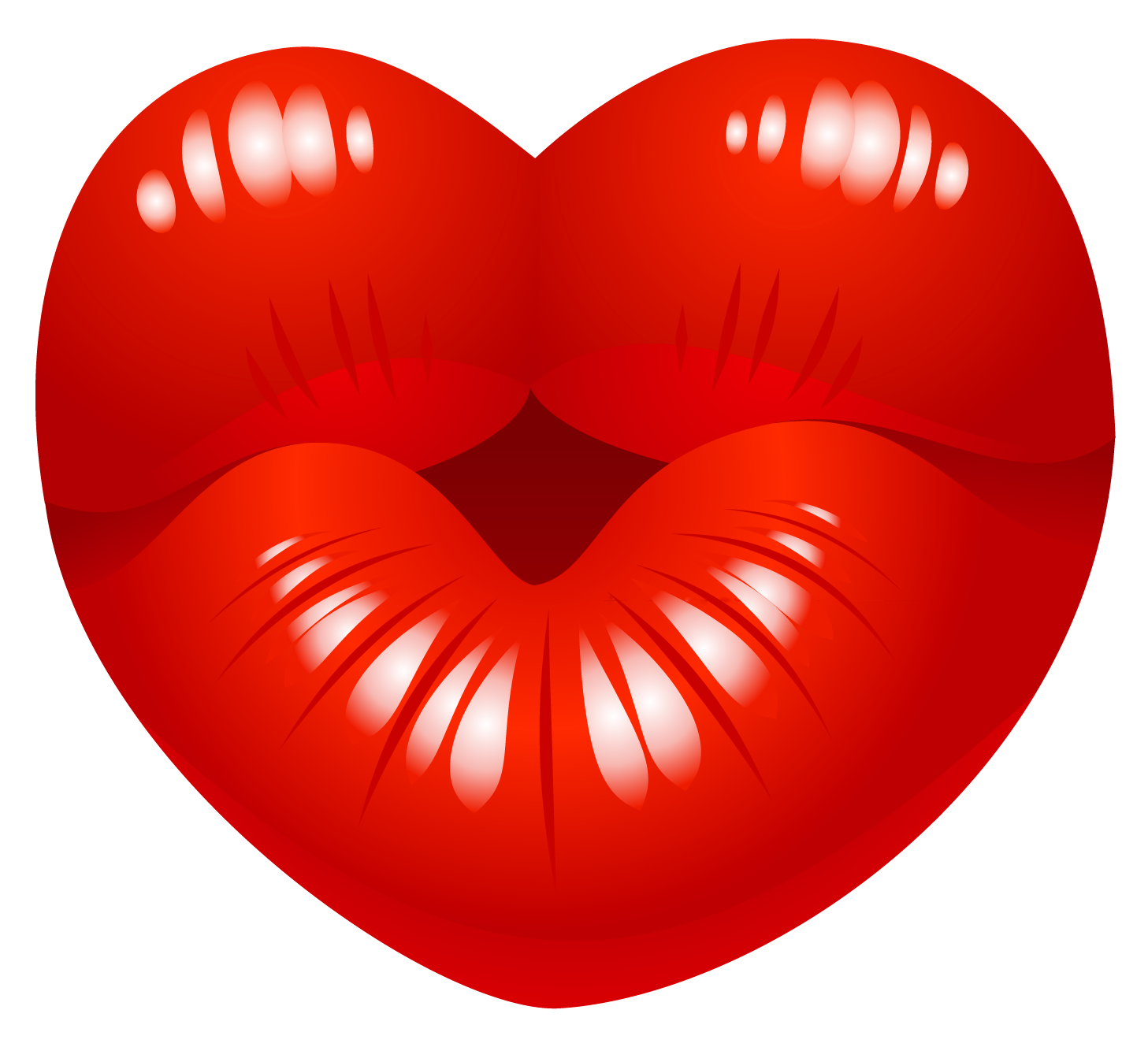 Heart Kiss PNG Picture.