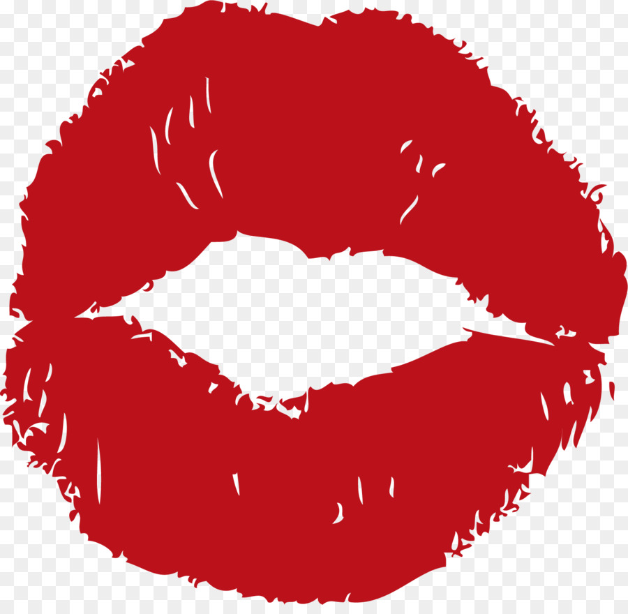Download Free png Lip Euclidean vector Kiss Mouth Red kisses png.