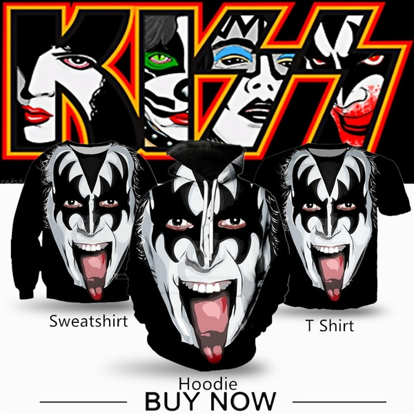 Popular Kiss Heavy Metal Rock Band Rebel 3D Print Men Women  Hoodie/Sweatshirt/T Shirt.