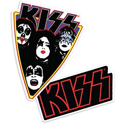 Amazon.com: Popfunk KISS Rock Band Bright Retro Logo.