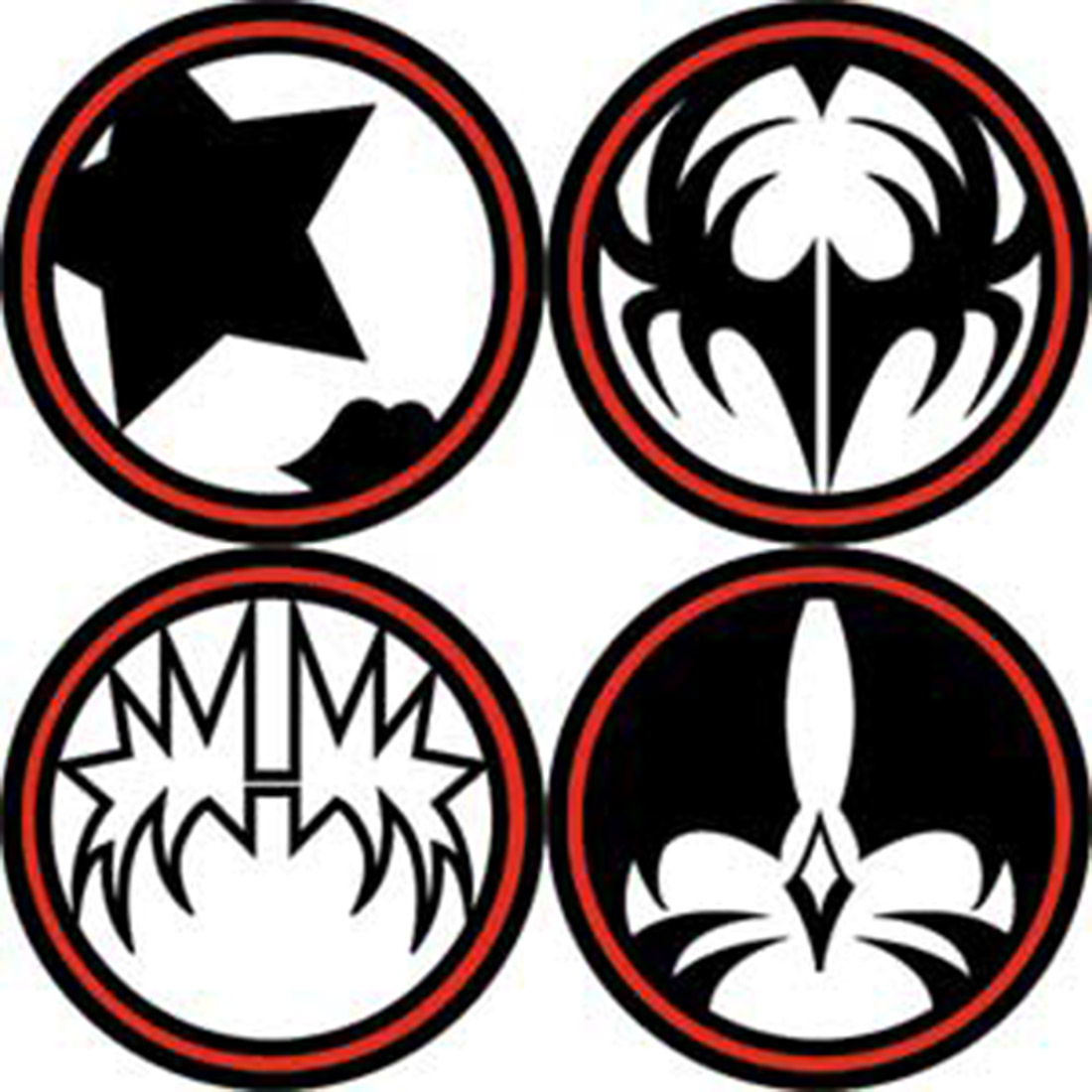 Kiss rock band clipart.